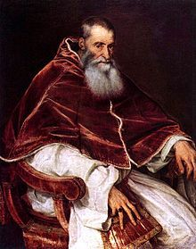 Paul III  Papacy began13 October 1534  Papacy ended10 November 1549  PredecessorClement VII  SuccessorJulius III  Orders  Ordination26 June 1519  Consecration2 July 1519  byPope Leo X  Created Cardinal20 September 1493  Personal details  Birth nameAlessandro Farnese  Born29 February 1468  Canino, Lazio, Papal States  Died10 November 1549 (aged81)  Rome, Papal State