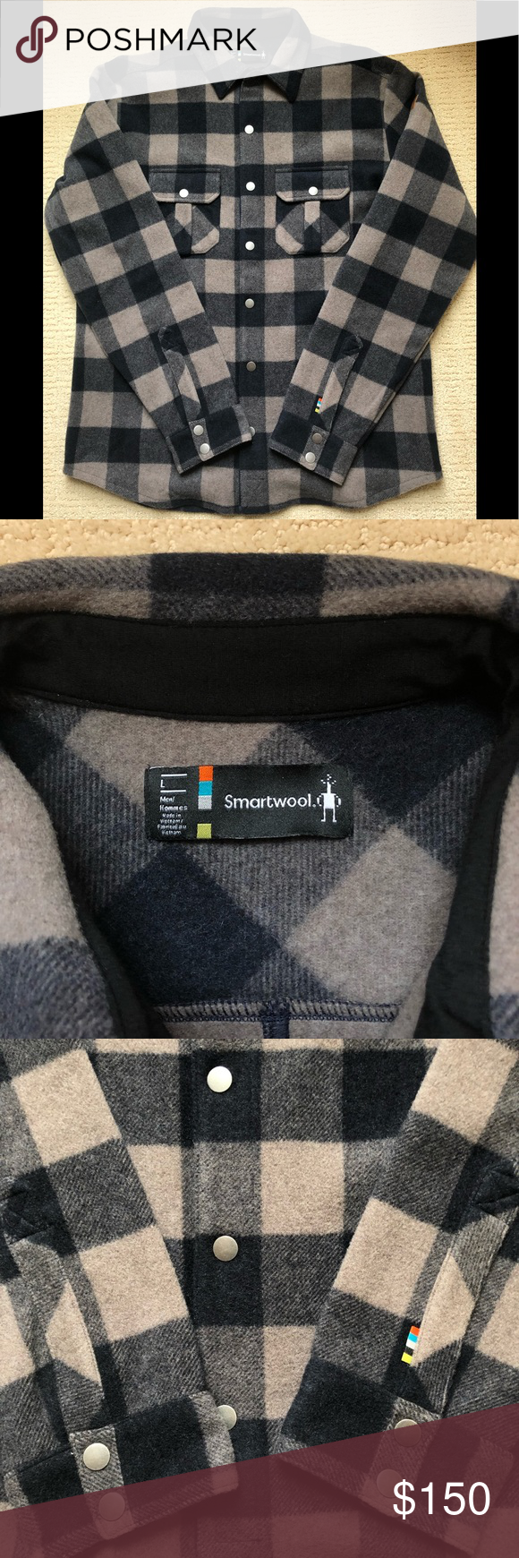 b0464f7772c3 SmartWool Anchor Line Shirt Jacket. Snap closures. Two chest pockets. 80%  Merino Wool, 20% Nylon. Relaxed Fit. Size Large. Loren color. Smartwool  Jackets ...