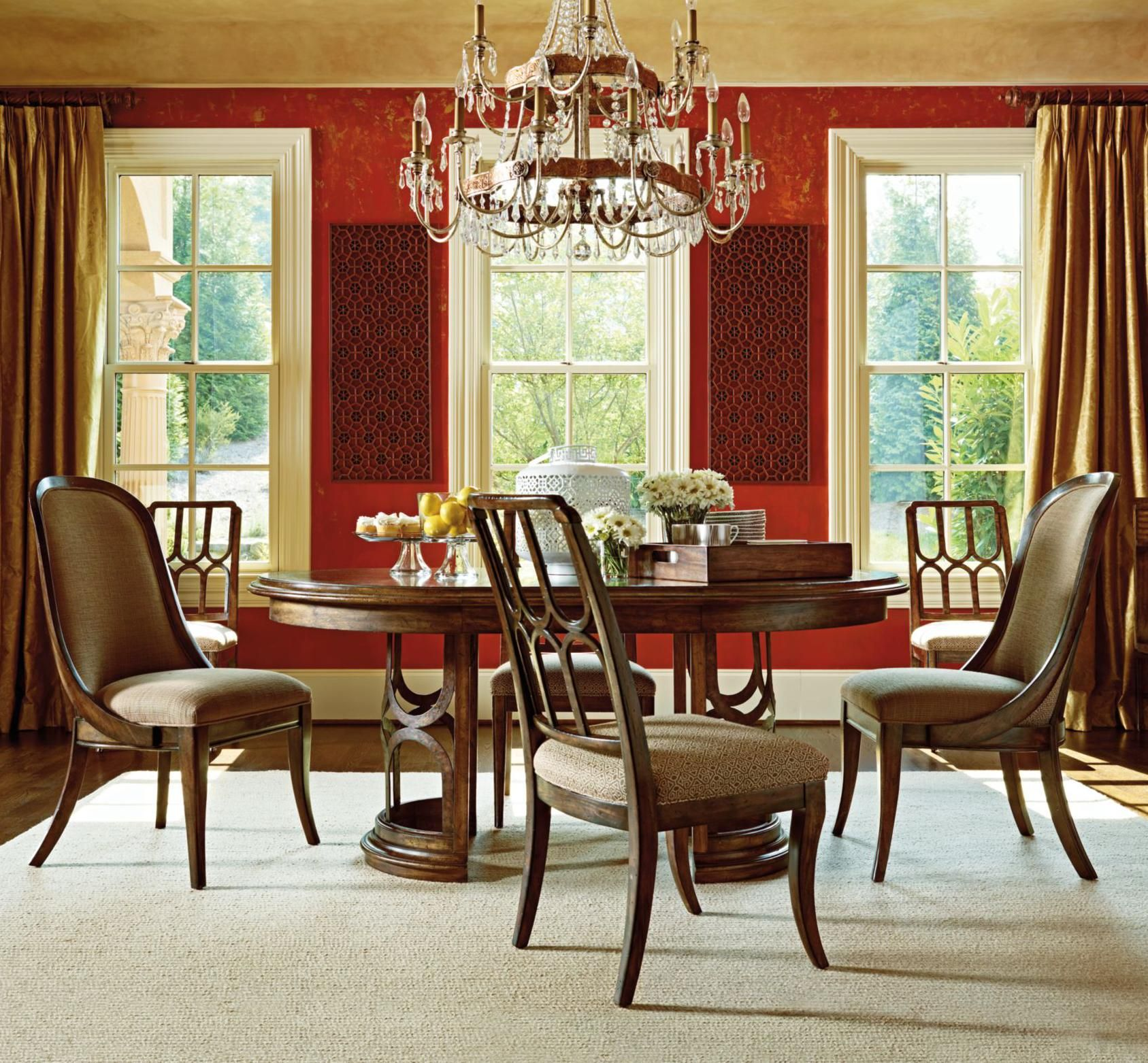 Archipelago 5Piece Monserrat Pedestal Table Setstanley Best Stanley Dining Room Set Design Inspiration
