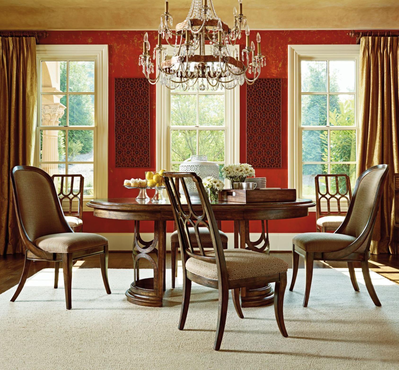 Room · Archipelago 5 Piece Monserrat Pedestal Table Set By Stanley Furniture