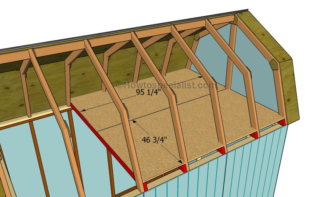How to build a gambrel roof shed howtospecialist how for Barn shed with loft plans