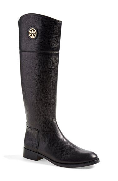 722fecf9489 Tory Burch  Junction  Riding Boot (Women) (Wide Calf) at Nordstrom.com. A  polished logo medallion brings signature sophistication to the timeless  profile of ...
