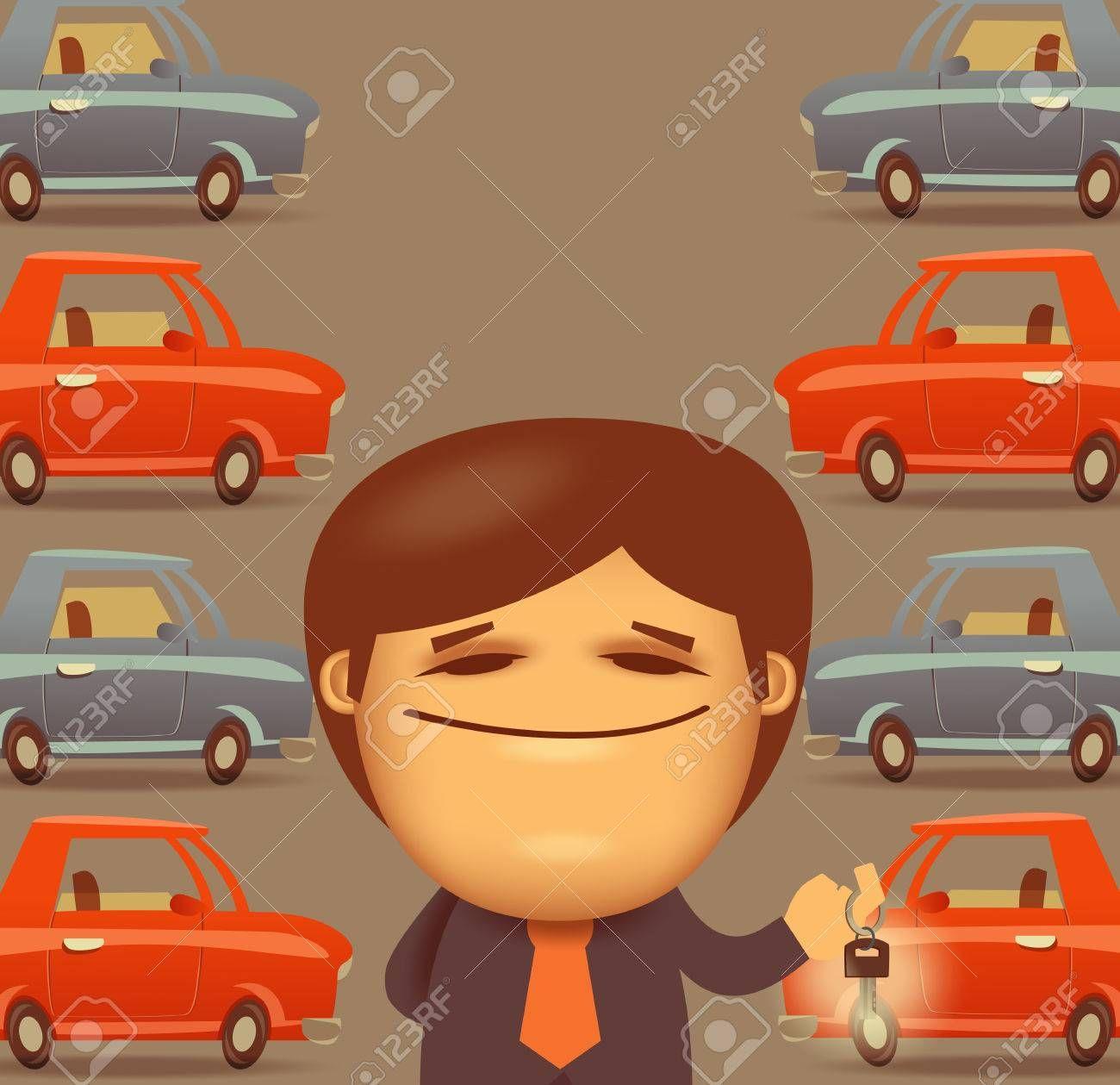 Car salesman.Vector Format , Aff, salesman, Car,