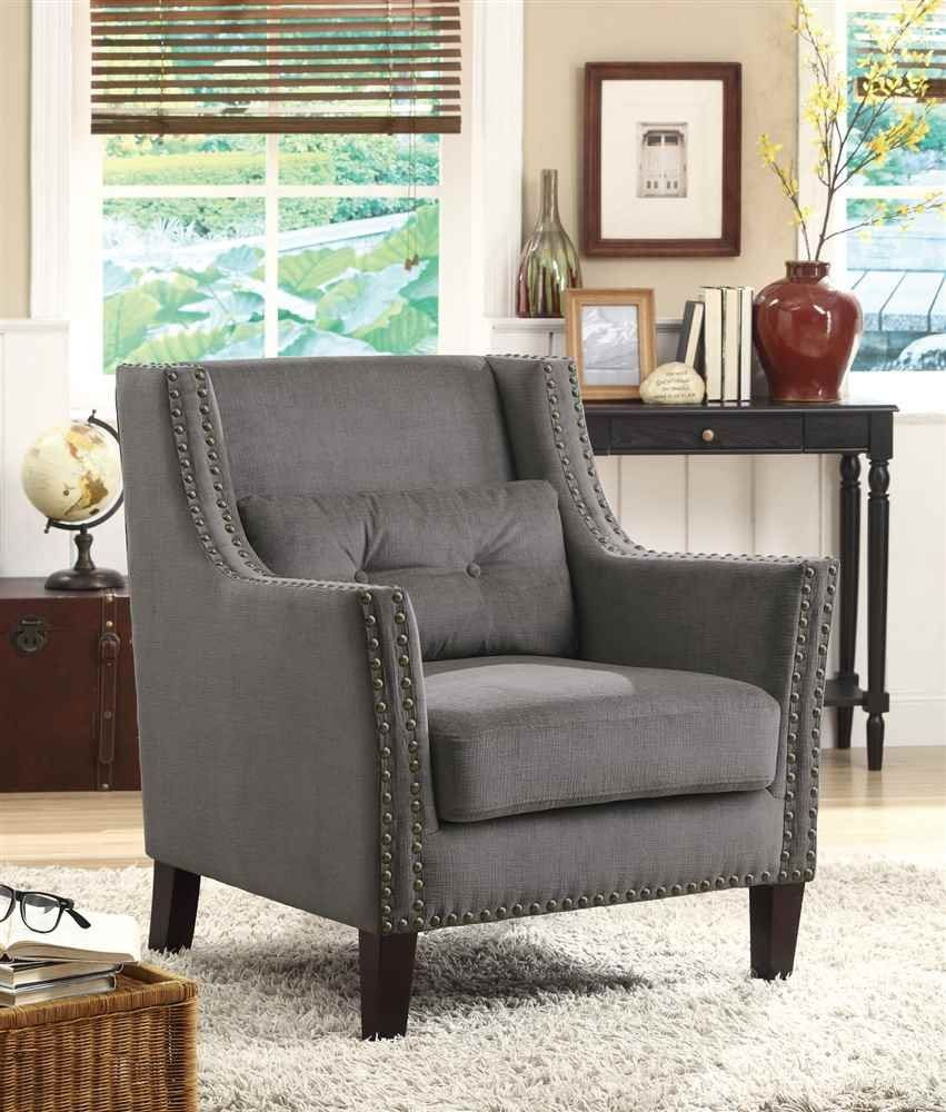 $262 Amazon.com   Coaster Home Furnishings Transitional Accent Chair, Dark  Brown/Dark
