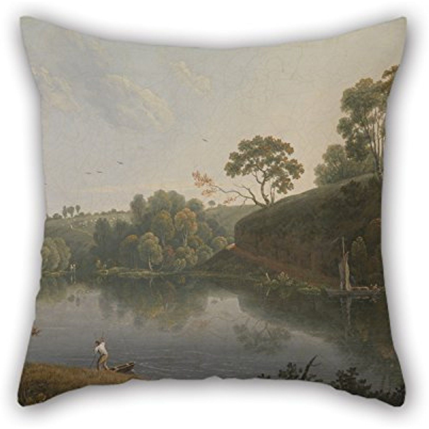 Throw cushion covers of oil painting thomas wright landscape with
