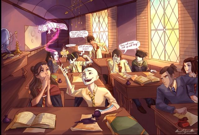 Harry Potter and The Last Airbender! | Art: Viria