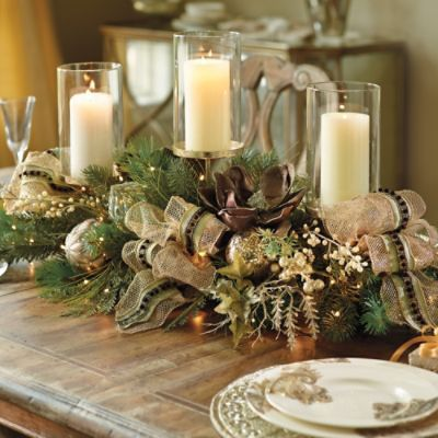 Vintage Glamour 3 Candle Centerpiece Luxury Candles Candle Centerpieces Holiday Entertaining Christmas