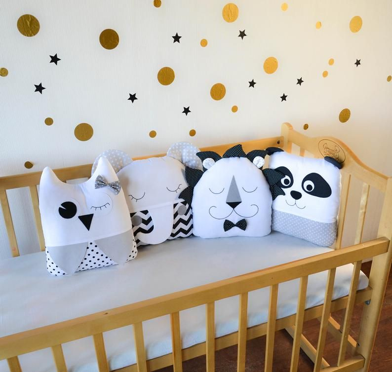Crib Bumpers Baby Bed Bumper Crib Bedding Cot Bumper Set Etsy In 2020 Crib Bumper Cot Bumper Sets Baby Bed