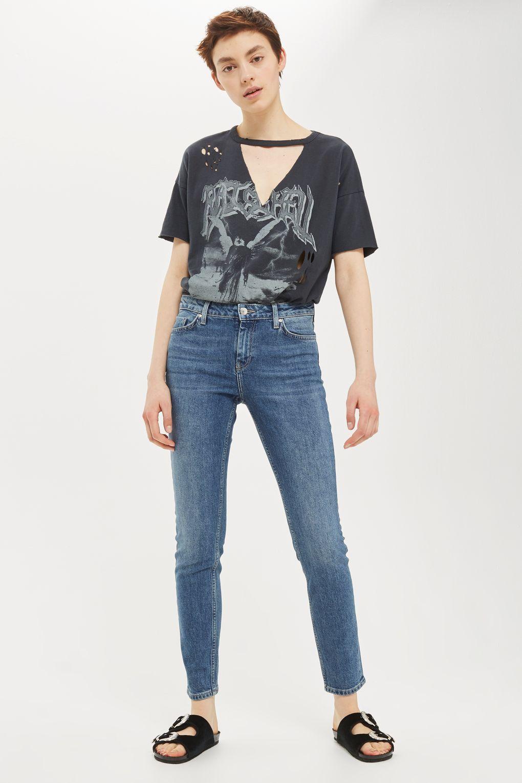 Vintage Blue Baxter Slim Leg Jeans Clothes, Slim legs