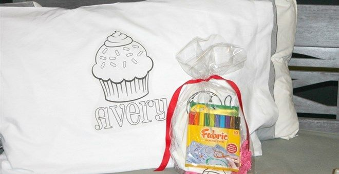 Personalized Color-on Pillowcases for Kids - 12 Designs