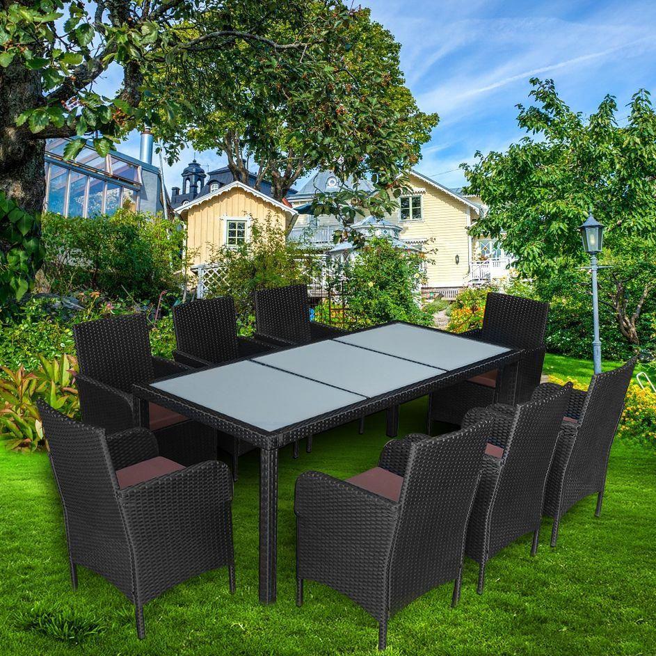 Tavolo 8 Sedie Rattan.Giardino In Rattan Divano Set Con Tavolo Da Pranzo 8 Sedie Mobili Da
