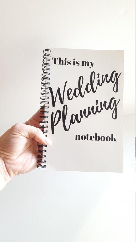 This Is My WEDDING PLANNING Notebook Bride Gift Tote Bag Binder Bridal