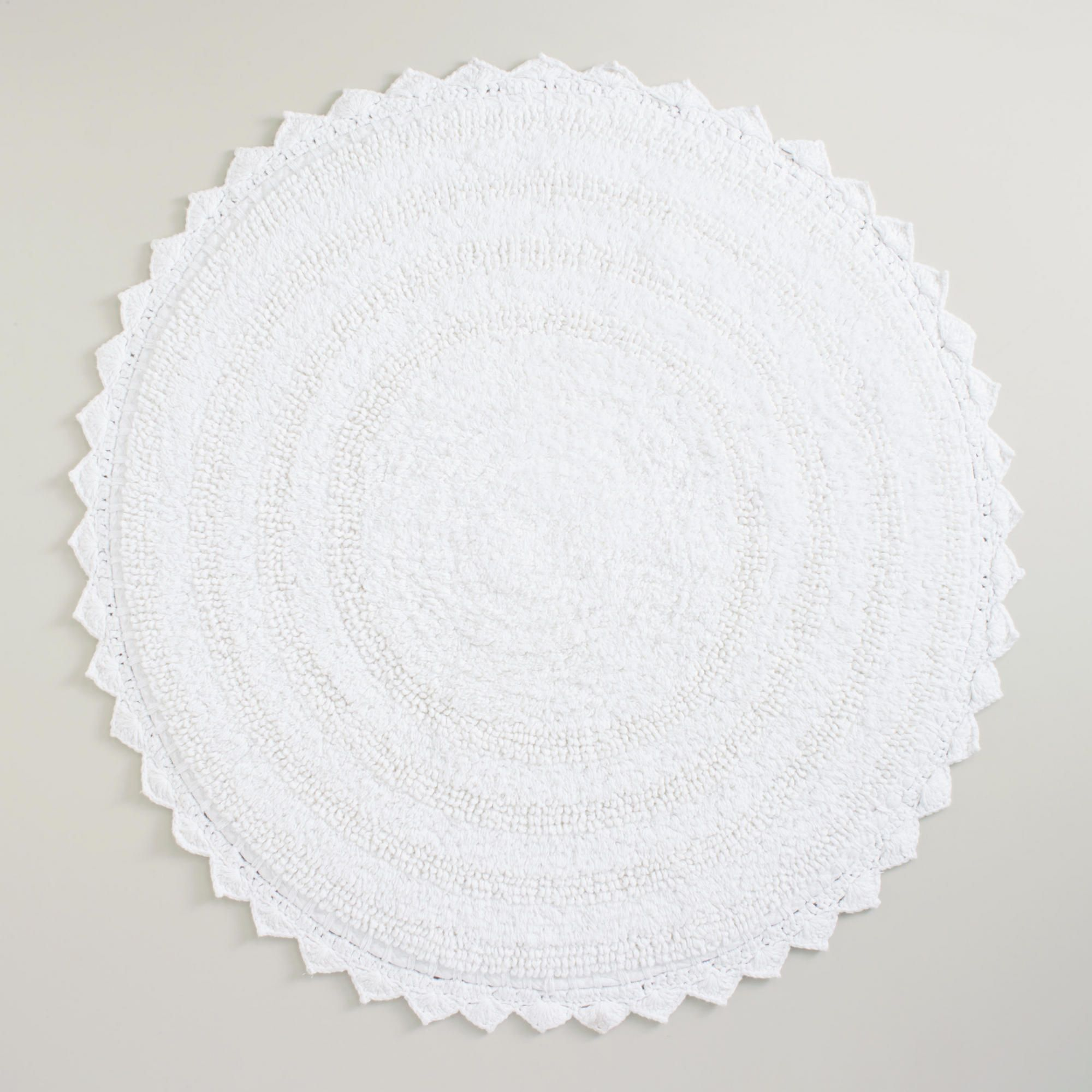 White Round Bath Mat World Market Home DecorIdeas Pinterest - Black round bath rug for bathroom decorating ideas