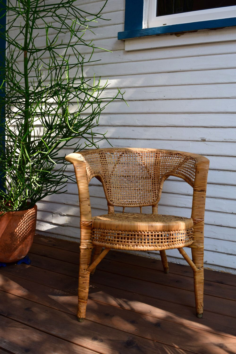 Vintage Woven Cane Occasional Chair ∆∆∆ This Beautiful Vintage Chair Is The  Perfect Addition To Any Corner To Add An Authentic Bohemian