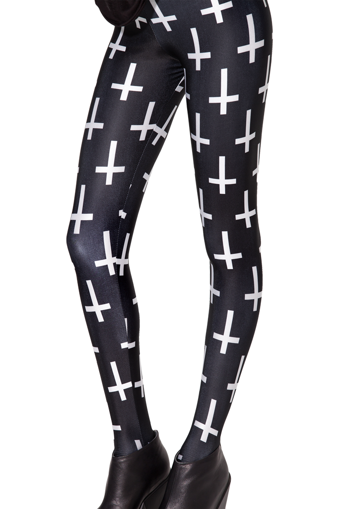 3a4f7eb2b2723 Cross of St Peter Black Leggings S $50 | Black Milk Collection ...