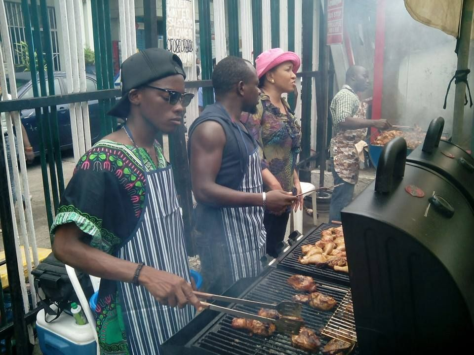 Delicioso Mobile Chefs at the Lagos State Carnival...bbq