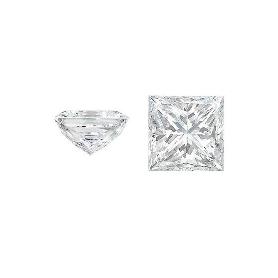 white princess cut diamond