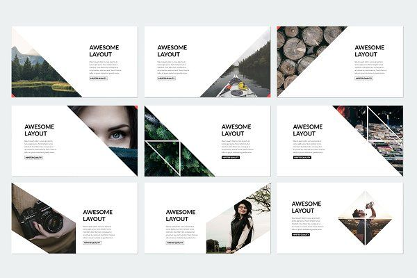 Elegant Powerpoint Template by binangkit on @creativemarket - keynote template