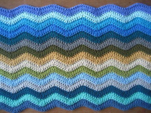 Coast Ripple blanket :: ta-dah!