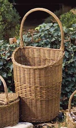 French Market Rolling Cart Lovely large, wicker basket on