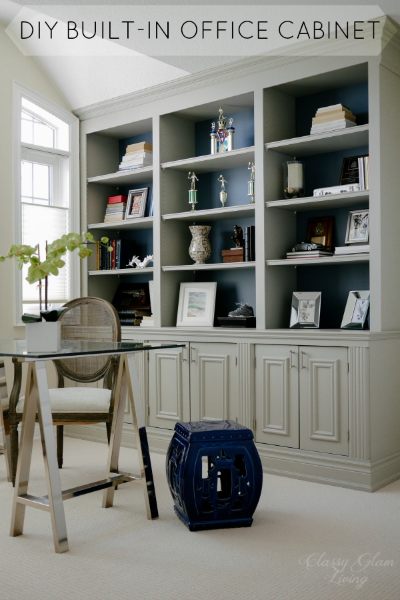 Diy Built In Office Cabinet Classy Glam Living Office Built Ins Home Office Cabinets Home Office Decor