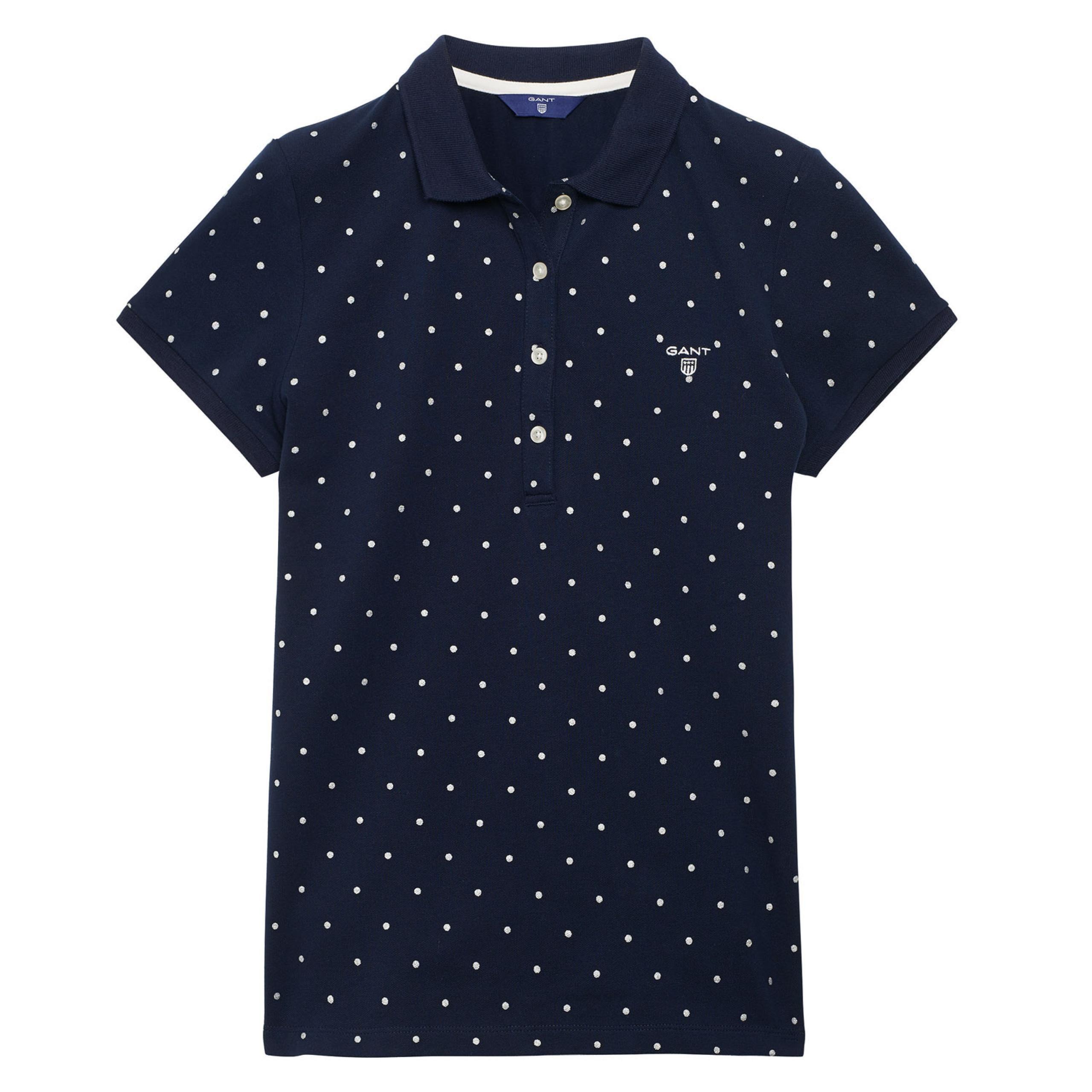 ea2d253ed43 GANT  Blue Dot Pique Polo Shirt women
