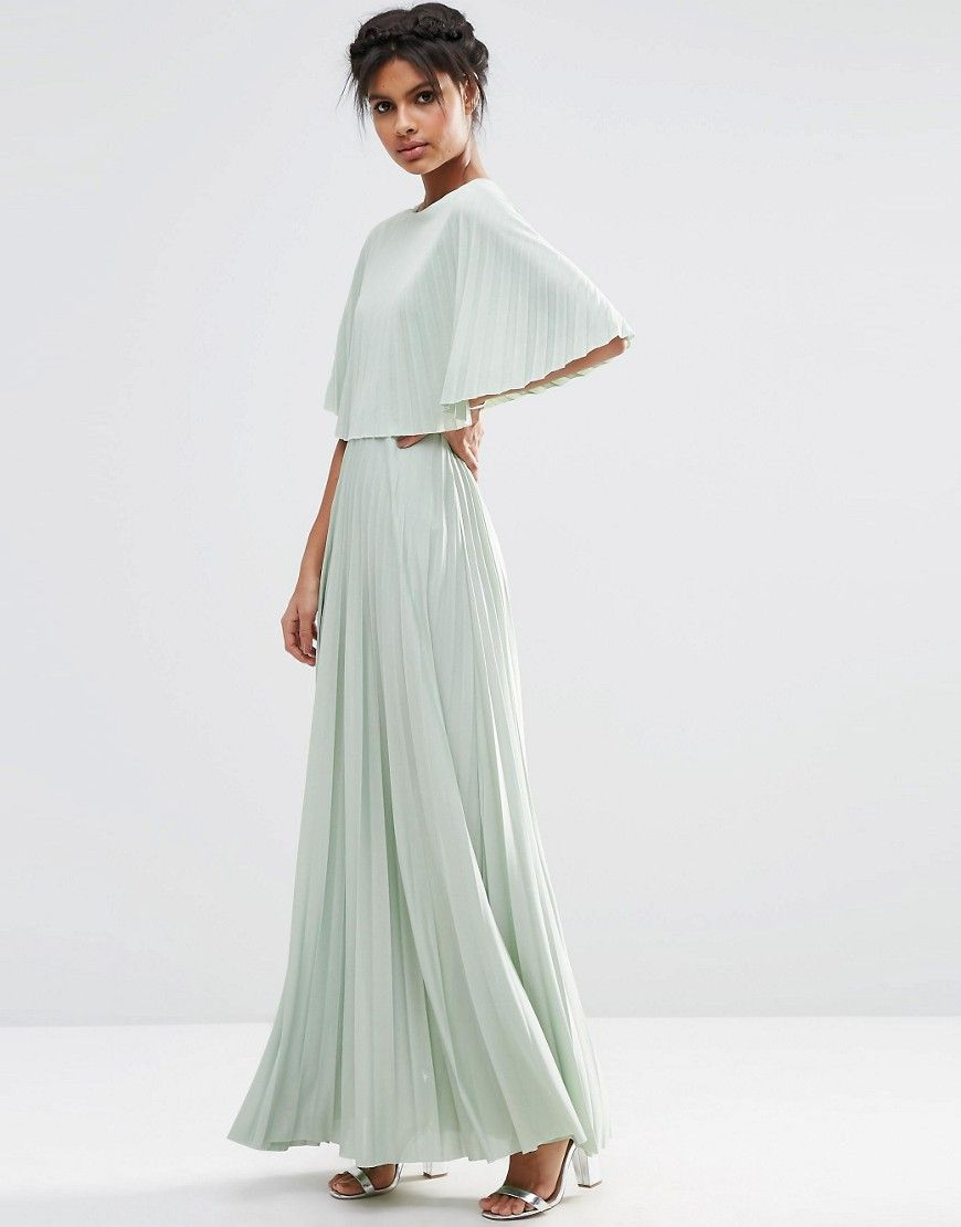 Image of asos kimono open back pleated maxi dress designs to