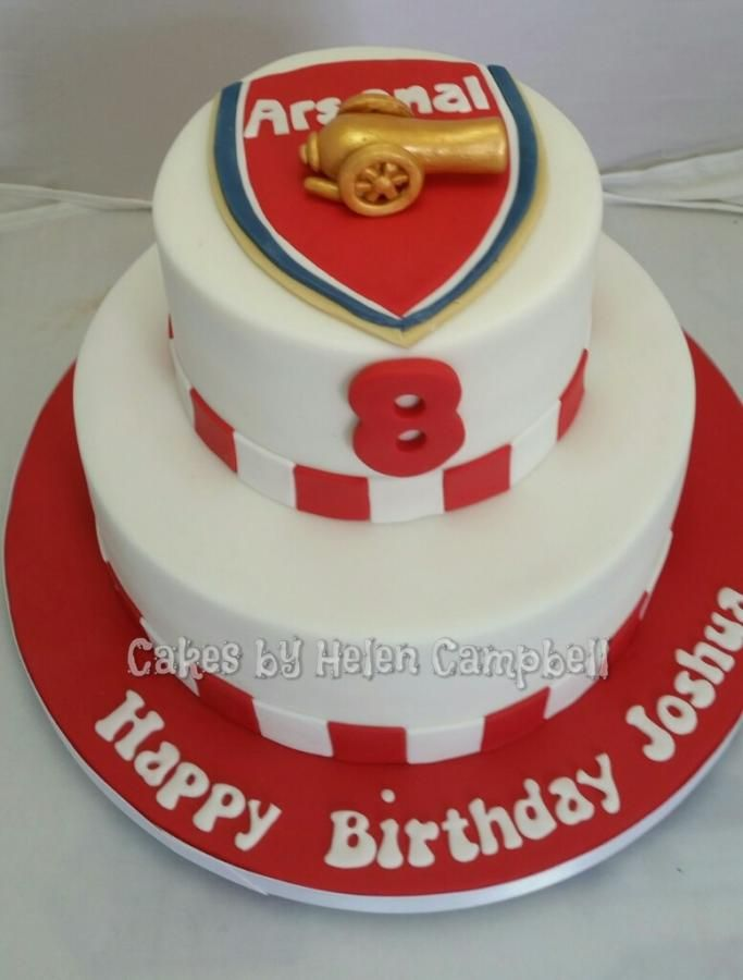 arsenal cake Cake by Helen Campbell Cakes by Helen Campbell