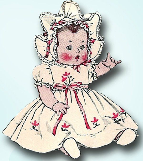 S Vintage  Inch Doll Clothes Unused Mccall Free Sample Doll