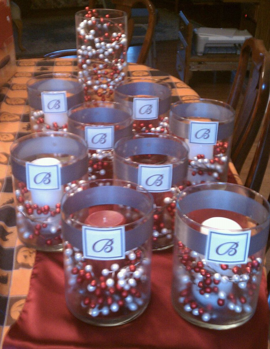 winter bridal shower centerpieces