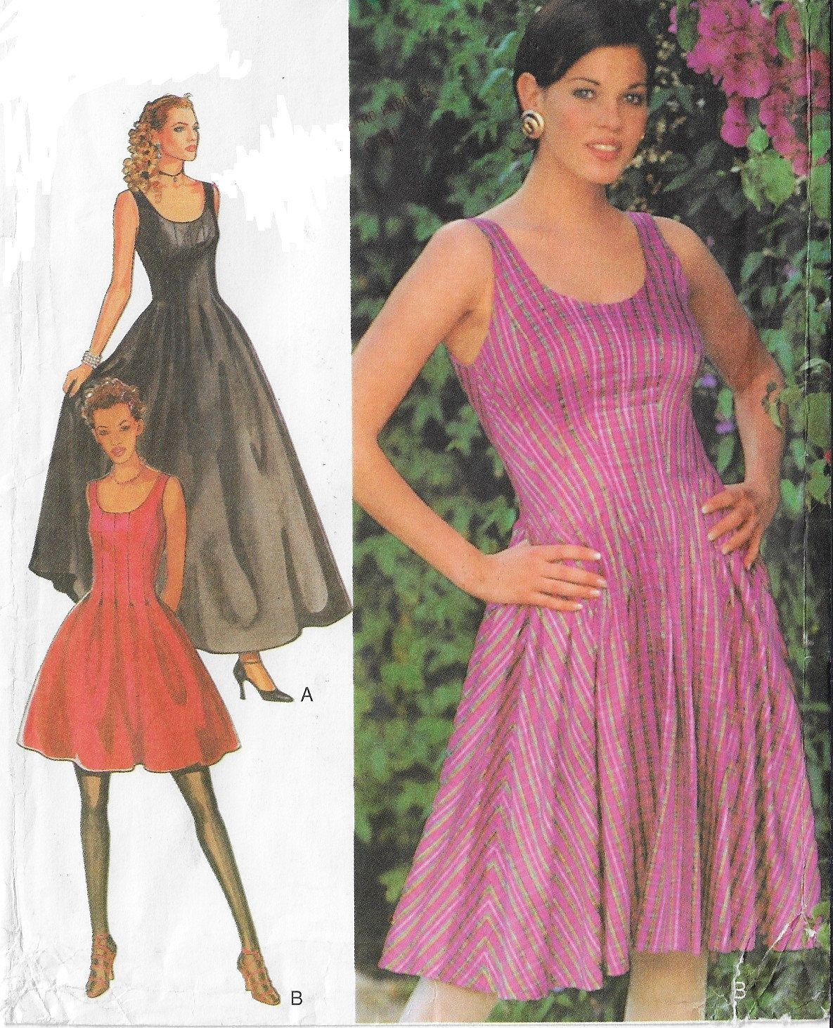 90s style sewing pattern 2674 for womens fit and flare