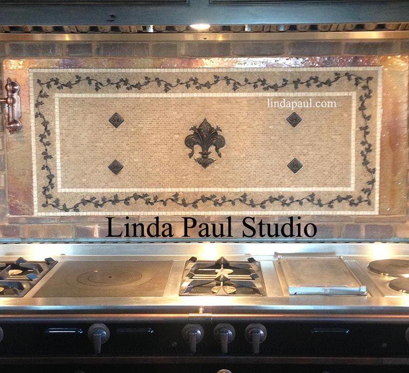 Fleur De Lis Mural   Traditional   Kitchen Tile   Cincinnati   By Losas  Designs Ltd | Kitchens | Pinterest | Traditional Kitchen Tiles, Traditional  Kitchen ...