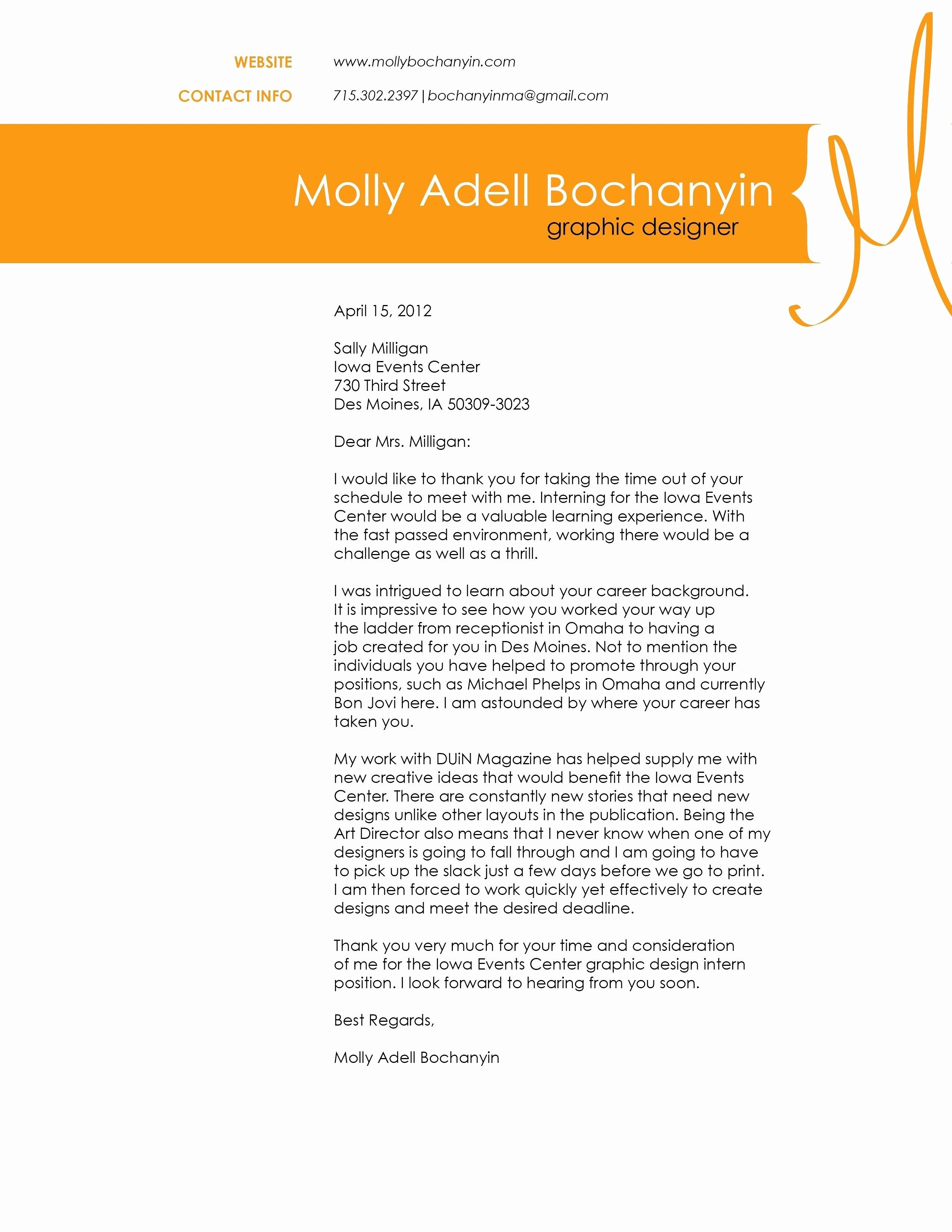 30 Graphic Design Cover Letter Valid Sample Tipoinkco