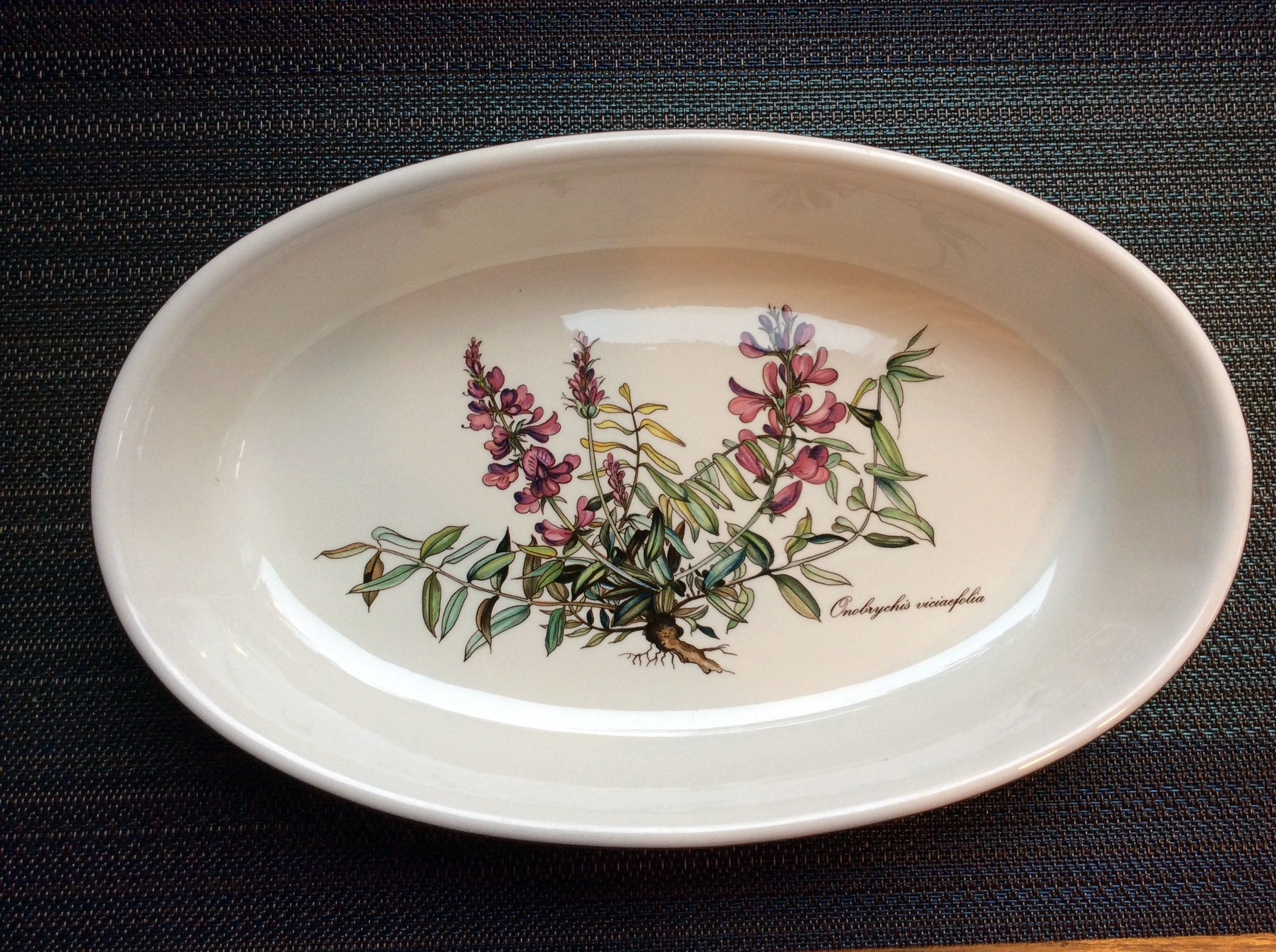 Small Pink Floral Dish Made From Vegetable Ivory Ring Dish