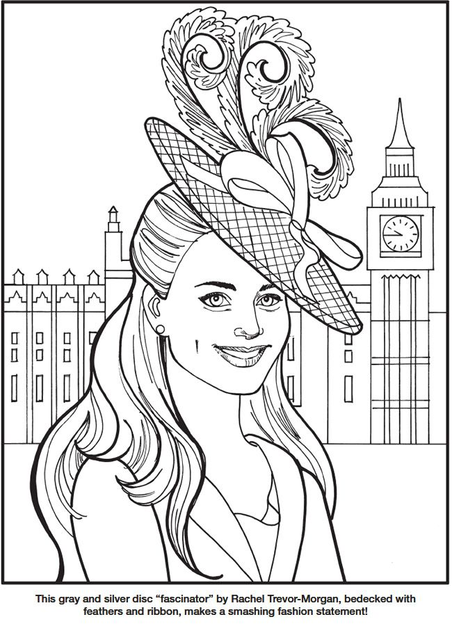 Kate, the Duchess of Cambridge Royal Fashions Coloring