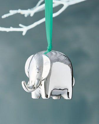 Silver+Elephant+Christmas+Ornament+by+Jonathan+Adler+at+Neiman+Marcus. - Silver+Elephant+Christmas+Ornament+by+Jonathan+Adler+at+Neiman+