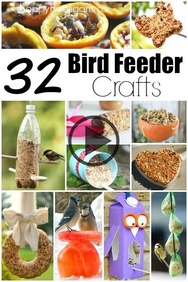 32 Easy Homemade Bird Feeders
