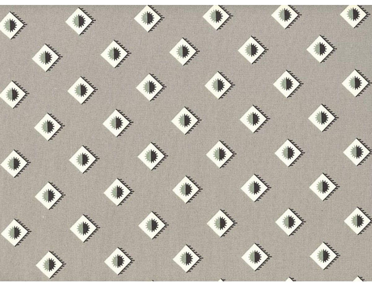 Denyse Schmidt New Bedford Rising Sun Grey is part of Schmidt, Harts fabric, Modern fabric, Bedford, Fabric, Geometric diamond -