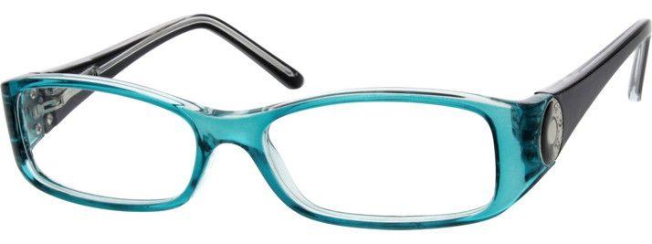Blue Rectangle Glasses 122316 Zenni Optical Eyeglasses With