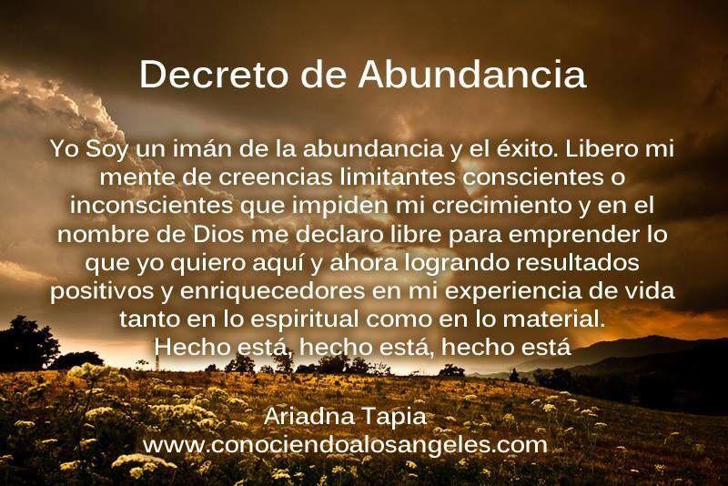 Decreto De Abundancia.