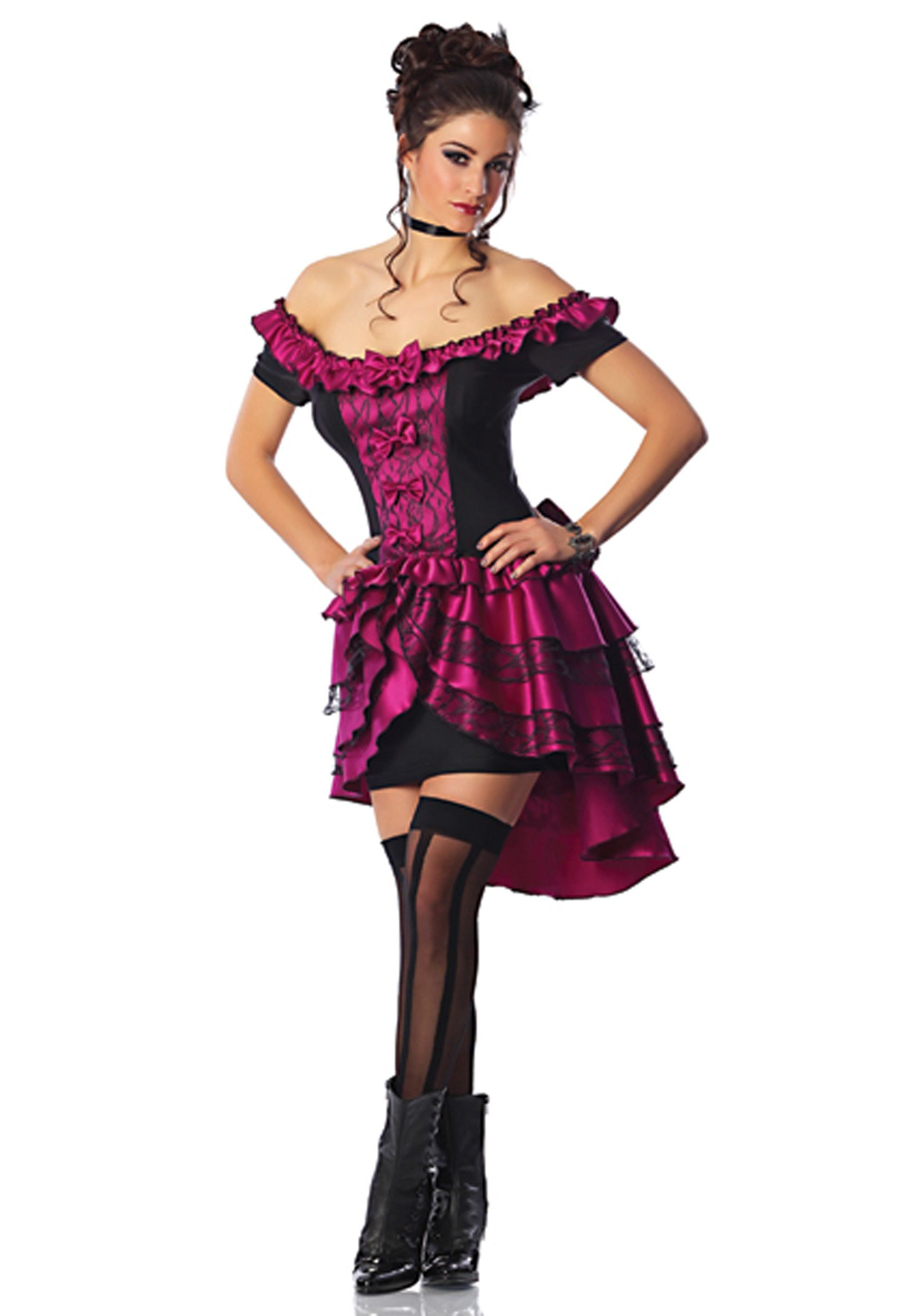 Size Violet Dance Hall Queen Costume Front Pretend