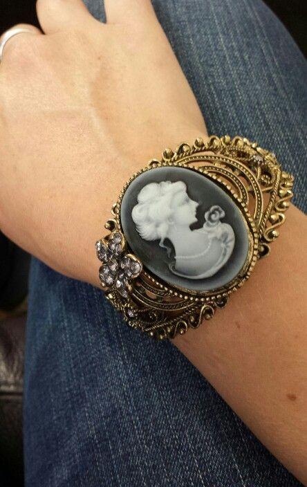 Steampunk Cameo Bracelet