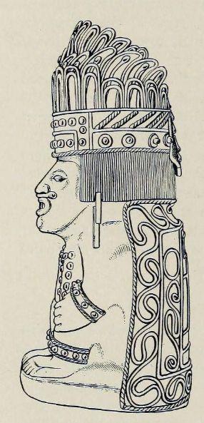 Estátua dorada de 'Tizoc'. México