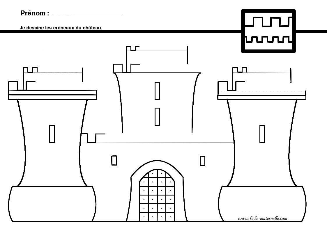 Dessiner Un Chateau Fort Colorier Les Enfants Marnfozine Com