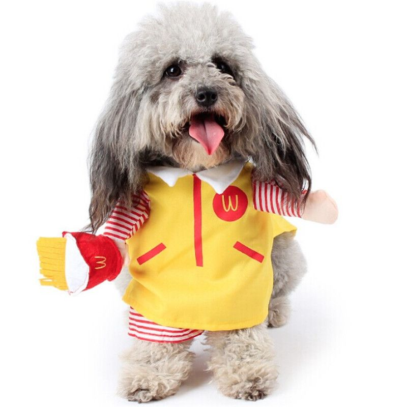 New Arrival Pet Dog Coat Funny Mcdonald S Cosplay Overalls Pet Dog Clothes Puppy Christmas Clothes Dog Affiliate Pets Pet Puppy Soft Dog Beds