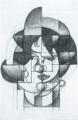 "Resultat d'imatges per a ""juan gris retrato germaine raynal"""