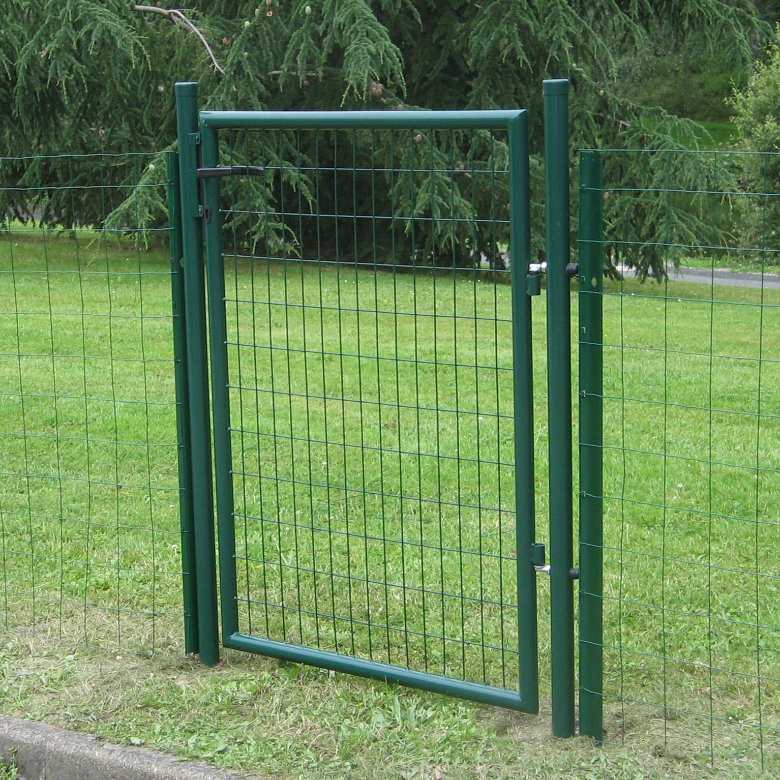 Portillon Grillage Eco Garden L 105 X H 175 Cm Vert Dirickx En 2020 Portillon Grillage Portillon Jardin Et Portillon