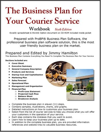 The Business Plan for Your Courier Service Small Business/Self