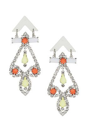 #topshop Neon Chandelier Earrings #nojewels