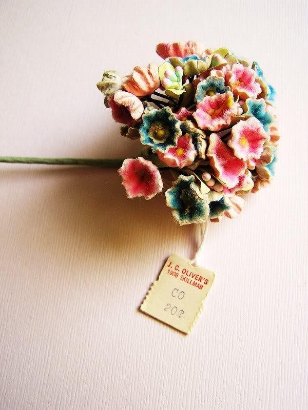 Mini Velvet Forget-Me-Not Flowers Handmade from 1920/'s Milliners Velvet for Hat